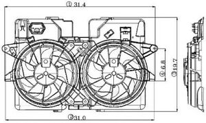 Engine Cooling Fan Assembly Global 2811523
