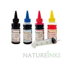 4 Universal Printer Refill Ink dye Bottles CISS Refillable Cartridge + syringes
