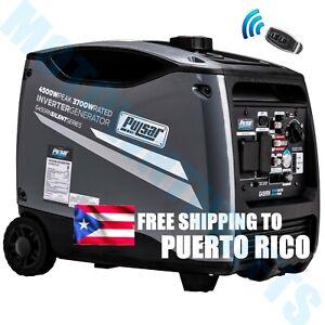 💡 PULSAR 4500 Watt Portable Inverter Generator Gas Quiet Electric Remote Start⚡