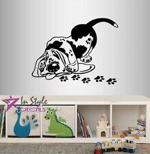 Wall Vinyl Decal Funny Cartoon Basset Hound Breed Dog Puppy Pet Nursery 1663