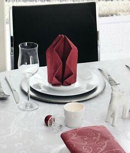 Servietten Tischservietten Tischdeko Tischdecke Jacquard 4er Set 50x50 cm
