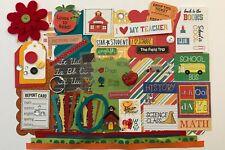 Back to School Echo Park Custom Chipboard Mini Book Album Kit Scrapbook