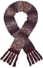 Screamer femmes chellene hand-knit longue écharpe-marsala/oyster/denim