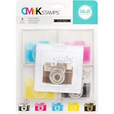 NEW American Crafts CMYK clear layered rubber stamp set CAMERA free usa ship
