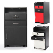 Styling Station Barber Cabinet Beauty Spa Salon Equipment w/4 Wheels 3 Color