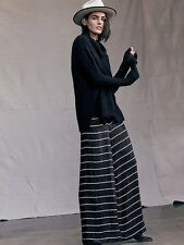 Rare Free People Je Taime Wide Leg Palazzo Black Sequin Pants 2 Retails $198.00