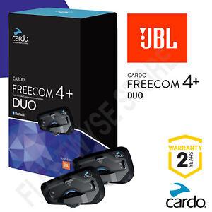 Cardo Freecom 4 + Plus Duo Kit JBL Motorcycle Bluetooth Intercom Headset