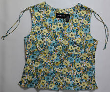 WOMEN'S SIZE 16, SLEEVELESS, BUTTON DOWN, STRETCH TOP BY SAG HARBOR, NEW!