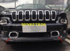 For Jeep Cherokee 2014 - 2017 chrome Front bumper left and right vent trim ABS*2