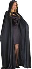 Morris Costumes Adult Unisex 68 Inches Tie Closure Hooded Black Cape. FW9159BK