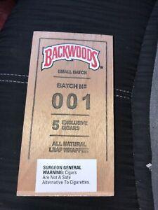 Backwoods Small wood box Rare Batch 001 Display, Storage or Collectors Box