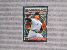 NOLAN RYAN- TOPPS BASEBALL'S FINEST Card- PROMO- #107- 1993