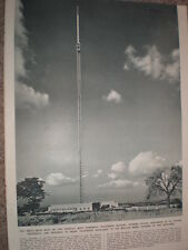 Photo article world's most powerful TV station Sutton Coldfield 1949