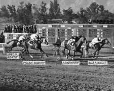 1937 Racehorse SEABISCUIT vs Rosemont Glossy 8x10 Photo Santa Anita Handicap