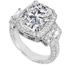 4.61 Carat Cushion Cut Diamond Engagement Ring H VVS2