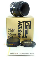 Nikon AiS 55 mm F2.8 Micro Nikkor AI-S objectif macro * Nr Comme neuf condition *