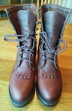 Women's Size 10 M  Brown Leather Durango Roper Boots.