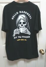 """Tilly's Last Call Co""""Darkness Tee"""" Men's XL Black w/Reaper Graphics T-Shirt NWOT"""