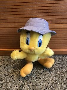 "Looney Tunes TWEETY BIRD with Hat - Plush - 11"""