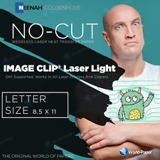 Heat Transfer Paper Image Clip Laser Light Self Weeding 85x11 25 Sheets 1
