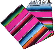 Authentic MEXICO Saltillo Serape Sarape Size 84 * 60  inch  pinks