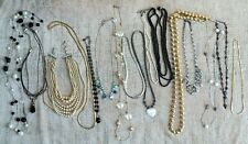 Vintage COSTUME JEWELRY GRAB BAG 16 Wearable NECKLACES - Nice Quality -Over 1 LB