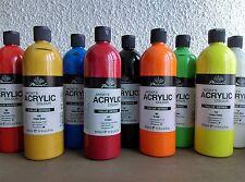 LOT 10 maxi-flacon  500 ml  PEINTURE ACRYLIQUE !!  pro BEAUX ARTS DESTOCKAGE!!!