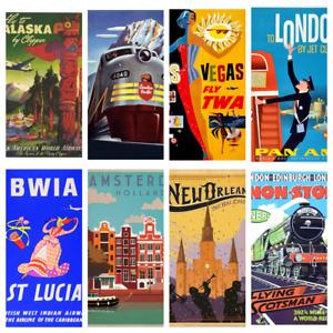 TRAVEL POSTERS A4 A5 Wall Decor Cafe Bar Shop Kitchen Bathroom Poster Prints