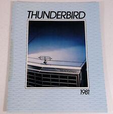 VTG 1981 Ford Thunderbird 15-page Car Dealer Showroom Sales Brochure Catalog