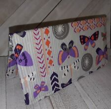 BUTTERFLIES Wallet Debit Checkbook Registry Document Holder Fabric Print USA