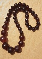 SALE 128.7 gr Sumatra Indonesia AMBER Elastic necklace 1.6 and 2.6 beads 041754