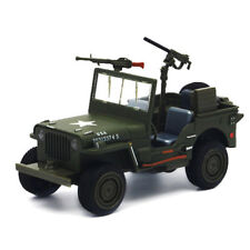 Willys 1:24 WW II Jeep Off-road Military Force Army Vehicle Alloy Diecast Model