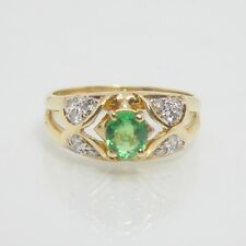 18ct Gold Tsavorite Garnet & Diamond Ring - with valuation $2,155 included