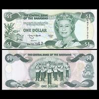 Bahamas 1 Dollar Banknote, 1996, P-57a, UNC, North America Paper Money