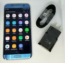 9/10 Samsung Galaxy S7 Edge SM-G935U - 32GB - Blue Coral - Factory Unlocked