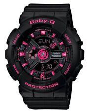 Casio Baby-G * BA111-1A Anadigi Black with Neon Pink Watch for Women COD PayPal