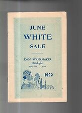 1900 Wanamaker White Sale Catalog - men's shirts, pajamas; golf skirts, corsets