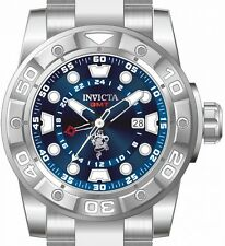 New Mens Invicta 20184 Sea Base Swiss GMT Bue Dial Stainless Steel Watch