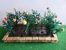 Britains Floral Garden - walled bed of standard roses