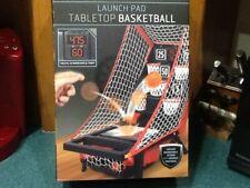 SHARPER IMAGE Launch Pad Tabletop Arcade Basketball Game DIGITAL SCOREBOARD NEW