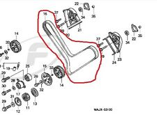 14401-MT3-004 Timing/Cam Belt - Honda ST1100 Pan European (All Models) 1990-2002