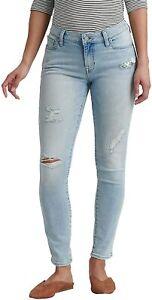 Lucky Brand Womens Wabash Blue Lolita Low Rise Skinny Jeans Sz 2 / 26W 6462-6M