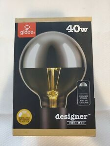 Globe Electric 84650 Designer 40W Chromeo Design Bulb, 1-Pack, Chrome E4