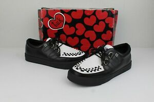 TUK black & white creeper sneakers a6092 Mens 5 Women's 7