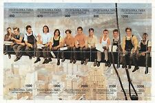 HOLLYWOOD STARS STAMP SHEET - BRUCE WILLIS/BRAD PITT/EDDIE MURPHY/DEPP