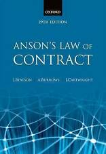 NEW Anson's Law of Contract by Jack Beatson FBA