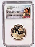 2019-S Sacagawea Native $1 Mary Ross NGC PF 70 Ultra Cameo - Portrait Label -