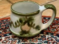 LOUISVILLE STONEWARE POTTERY 24 OZ COFFEE MUG CUP GREEN VINE JOHN B TAYLOR NEW