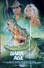 DARK AGE ORIGINAL AUSTRALIAN CROCODILE HORROR ADVENTURE FILM POSTER
