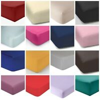 Elasticated Fitted Sheet Plain Dyed Polycotton single double king super king bed